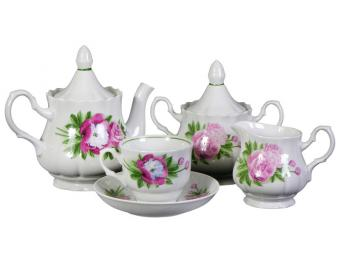 Чайный сервиз 15пр. Пион форма Романс