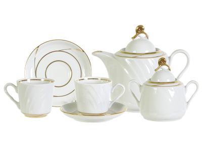 Чайный сервиз 14 пр Бомонд форма Голубка Добрушский фарфоровый завод