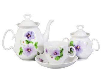 Чайный сервиз Анютины глазки 14пр форма Реванш