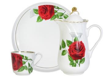 Набор питьевой 8 предметов форма Голубка Роза на капители 7С0951