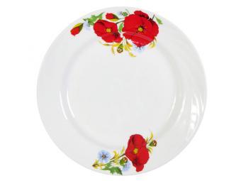 Тарелка 175 мм мелкая Маки красные