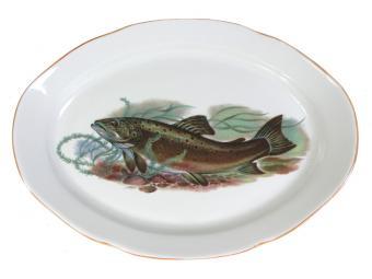 Блюдо овальное Рыбы 33см