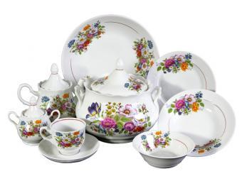 Набор столовой посуды Букет цветов 34пр