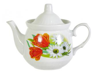 Чайник 600см3 ф.Кирмаш Ромашка с тюльпаном