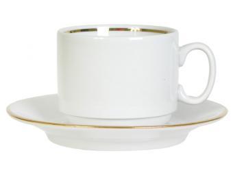 Чайная пара 220см3 форма Экспресс золото без деколи 8С0564