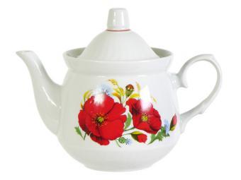 Чайник 600см3 ф.Кирмаш Маки красные