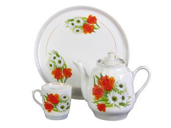 Набор для чая 8 предмета Ромашка с тюльпаном 8С0400