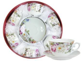 Чайный набор 12пр в круглой коробке 1006-16LH (51522)