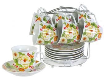 Чайный набор 12пр Белый шиповник