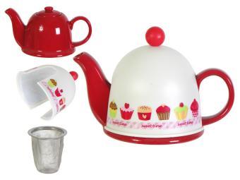 Чайник заварочный с термоколпаком 450мл Кексики