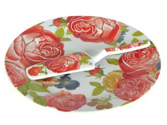 Набор для торта Чайные Розы с лопаткой