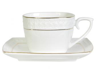 Чайная пара Снежная королева 240мл квадратная