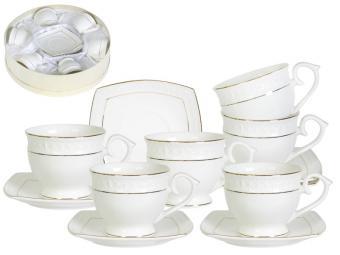 Чайный набор 12 предметов 280мл кругл. Снежная королева