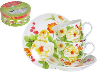 Чайный набор Цветок шиповника 4 пр