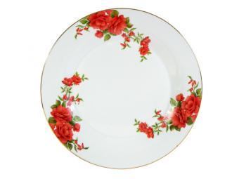 Блюдо круглое 30см Розы-3