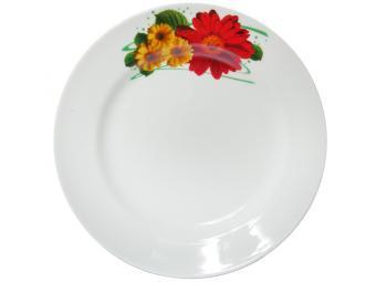 Тарелка мелкая Идиллия 200 мм Праздничная гербера