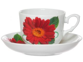 Чайная пара Кирмаш 250 см3 Праздничная гербера