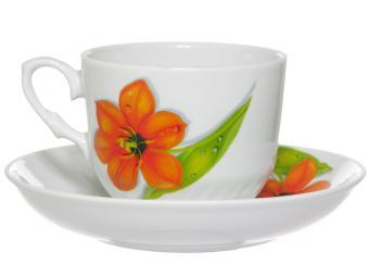 Чайная пара Кирмаш 250 см3 Солнечный тюльпан