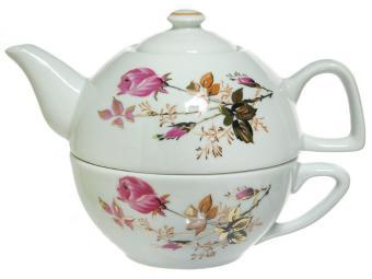 Набор для чая чайник и чашка Голландская роза