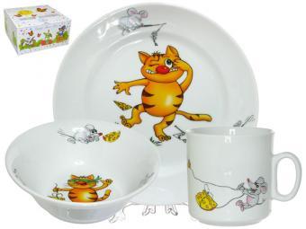 Набор детский 3пр Кошки-мышки форма Идиллия