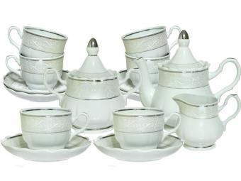 Чайный сервиз 15 пр Серебристый форма Романс