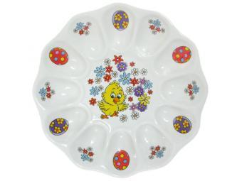 Блюдо для фаршированных яиц 22см К Светлой Пасхе