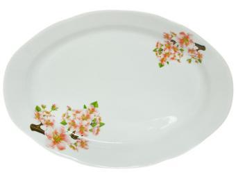 Блюдо 330мм овальное ф.Идиллия Яблоневый цвет