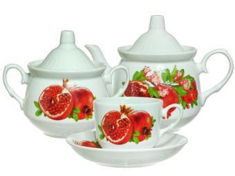 Чайный сервиз 14пр ф.Кирмаш Гранат