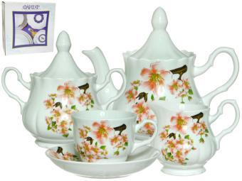 Чайный сервиз 15пр ф.Романс Яблоневый цвет