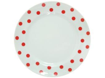 Тарелка мелкая 175мм ф.Идиллия Горошек красный