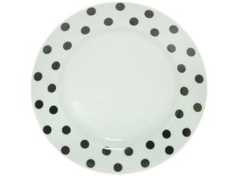 Тарелка мелкая 175мм ф.Идиллия Горошек черный