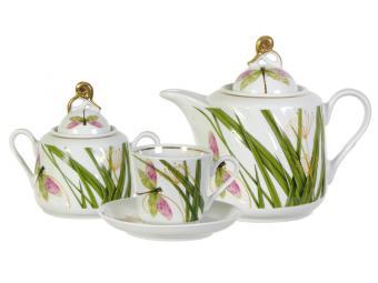 Чайный сервиз 14 предметов форма Голубка Стрекоза 9С0422