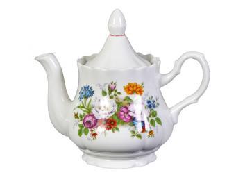 Чайник 800мл Букет цветов форма Романс