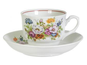 Чайная пара Букет цветов 250см3