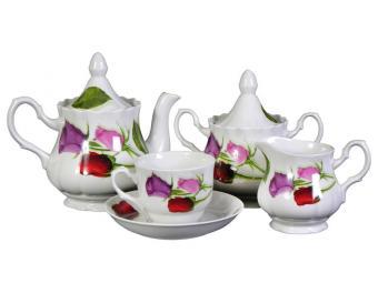 Чайный сервиз 15пр Королева цветов форма Романс