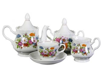 Чайный сервиз 15пр. Букет цветов форма Романс
