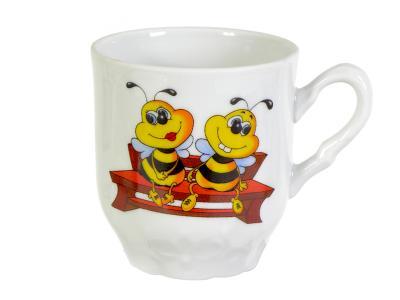 Кружка 220см3 Пчелы Добрушский фарфоровый завод 4С0118