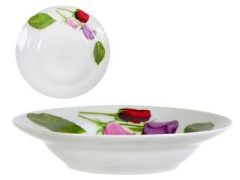 Тарелка 200 мм глубокая Королева цветов
