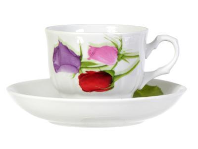 Чайная пара 250см3 Королева цветов Добрушский фарфоровый завод