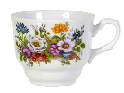 Чашка чайная 250см3 Букет цветов Добрушский фарфоровый завод 4С0745