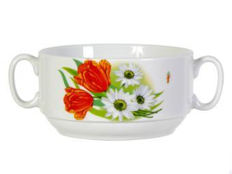 Чашка для бульона 470см3 Ромашка с тюльпаном