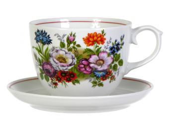 Чайная пара 500см3 ф.Подарочная Букет цветов