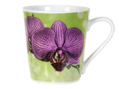 Кружка 300см3 форма Классик Орхидея Добрушский фарфоровый завод