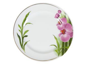 Тарелка 175 мм мелкая Бамбуковая Орхидея