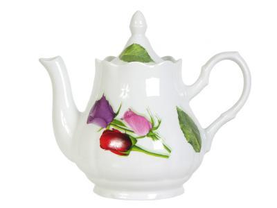 Чайник доливной 1750см3 Королева цветов Добрушский фарфоровый завод