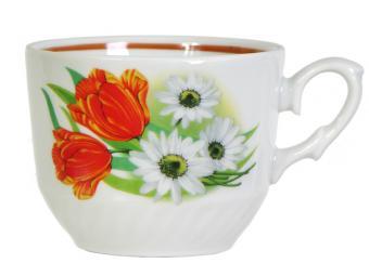 Чашка Ромашка с тюльпаном 250см3 форма Кирмаш