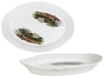 Блюдо овальное 330мм Рыбы 05808