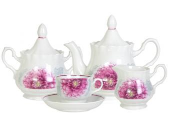 Чайный сервиз 15 предметов ф Романс Георгин 7С0837