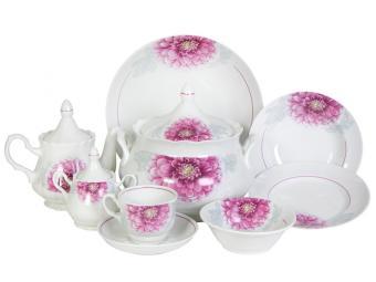 Набор столовой посуды 34 предмета Георгин 7С0858