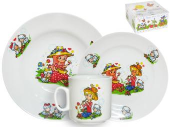 Набор детской посуды 3 предмета Пастушки 6С2631